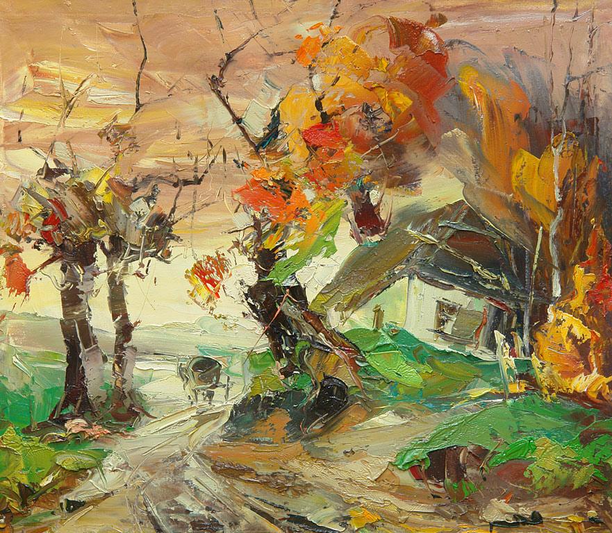 Осенняя дорога 70х78 65